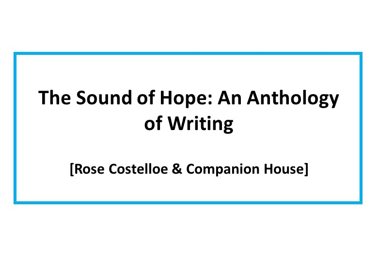 The Sound of Hope: an anthology of writing