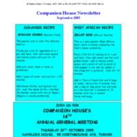 September (2005) Newsletter