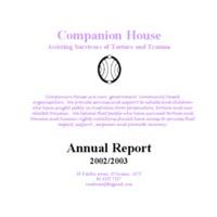 Companion House Annual Report 2002/03
