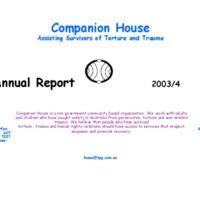Companion House Annual Report 2003/04