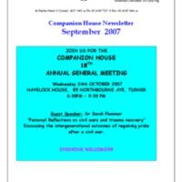 September (2007) Newsletter