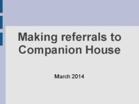 Making Referals to Companion House (2014)